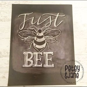 Other - Chalkboard Theme Just Bee 🐝 Quality Print